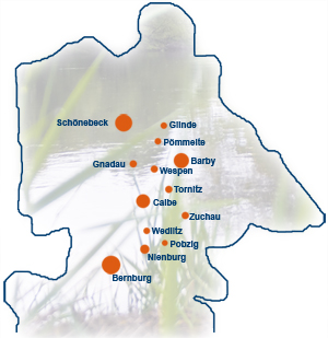 Entsorgungsgebiet des AZV Saalemündung